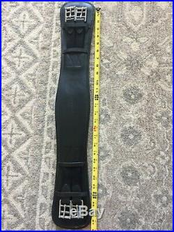 Nunn Finer Leather English Dressage Girth Black 26 EXCELLENT CONDITION