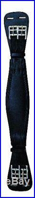 Perri's Black Leather Dressage Girth, Black, 30-Inch