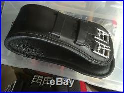 Podium Girth Leather Black 65cm (26-27) Endurance Saddle Padded Girth Dressage