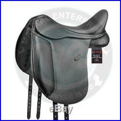 Premium Leather Genuine Dressage English Horse Saddle+Bridle, Reins, Girth, Stirrup
