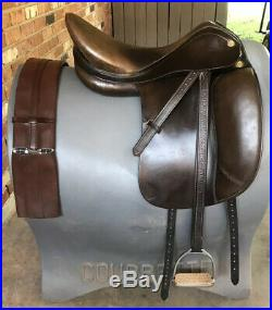 Prestige Dressage Saddle Package 18 33 Brown includes Leathers, Irons & Girth