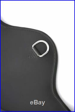 Rhinegold Anatomical Italian Leather Short/Dressage Girth Black 24