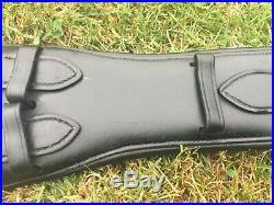 SELLERIA EQUIPE SHORT EVENT MONO DRESSAGE GIRTH BLACK LEATHER 60cm