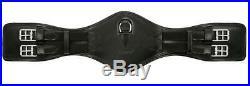 Saddle Belt pass anatomical dressage strap Black Belt leather elastic