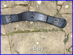Saddle Company Dressage Girth 28 in Black Leather shaped