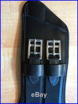 Seaver dressage girth Gorgeous black leather, size 60cm/24