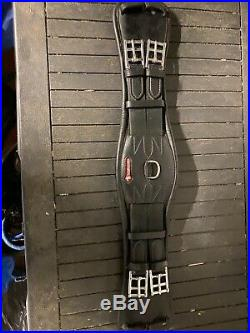 Selleria EQUIPE Anatomic Leather ELASTIC DRESSAGE GIRTH Black 22