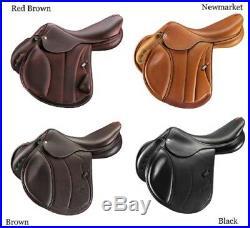 Selleria EQUIPE Anatomic Leather ELASTIC DRESSAGE GIRTH GH19 Black/Brown 50-80cm