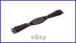 Selleria Equipe Italian leather Dressage girth with elastic ends / lambskin pad