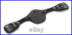 (Size 65cm) Black Amerigo Protector Dressage Girth with Vibram