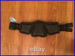 Stubben Equi-Soft Dressage Girth 28, Black Leather