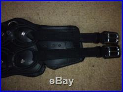 Stubben Equi-Soft Girth + Vachette Leather Girth Pad black 65cm 26 dressage