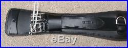 Thinline Leather Contour Comfort Dressage Girth in Black 70cm/28