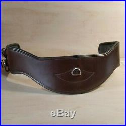 Total Saddle Fit Short Shoulder Relief Girth Dressage, Size 18, Brown Leather
