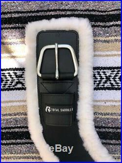 Total Saddle Fit Shoulder Relief Cinch 30 Black with White Fleece Liner