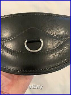 Total Saddle Fit Shoulder Relief Dressage Girth 28 Leather Black