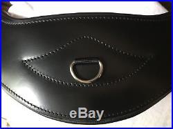 Total Saddle Fit Shoulder Relief Dressage Girth Leather Black 24