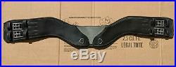 Total Saddle Fit StretchTec 32 Black Learher Shoulder Relief Dressage Girth