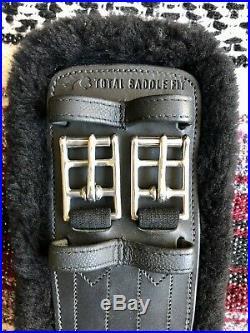 Total Saddle Fit StretchTec Dressage Girth 26 Black With Fleece Liner