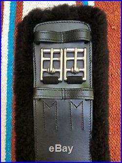 Total Saddle Fit StretchTec Dressage Girth 32 Black Black Fleece Liner