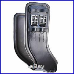 Total Saddle Fit StretchTec Shoulder Relief Girth Black with Black Leather