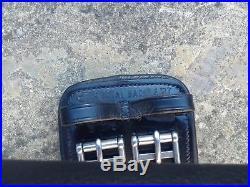 Total Saddle Fit (TSF) Shoulder Relief Dressage Girth, black leather, 24