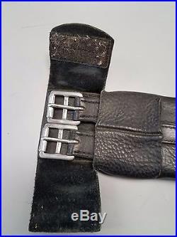 Used Leather Pocket Dressage Girth Size 26''/65cm Black